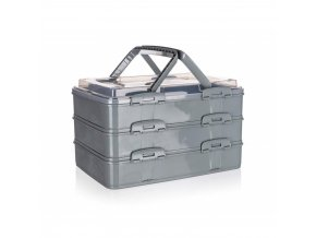Box úložný na potraviny PIKNIK PARTY 42x29x25cm malinový