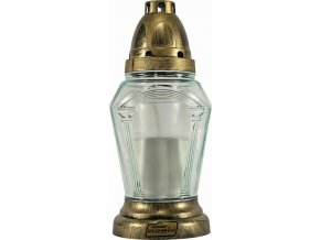Hřbitovní sklo 20cm svíčka vklad 55g  OBELISK