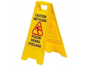 """Tabule výstražná """"Pozor mokrá podlaha"""" 60x30cm"""