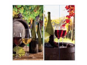 Taška dárková 35x10x10cm na víno  WINE