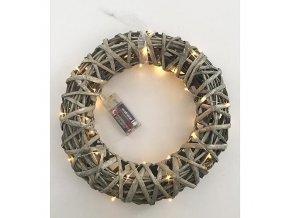 Věnec dekorativní s osvětlením 40xLED ¤30cm