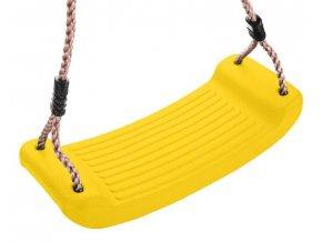 Houpačka plastový sedák 43x17x8,5cm  ABELLA žlutá