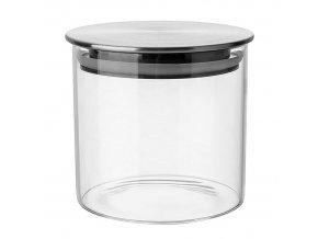Dóza sklenice 0,5L s víčkem vzduchotěsná  TUBE