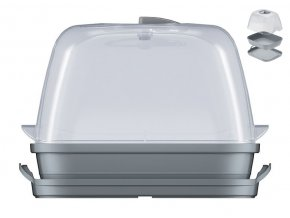 Minipařeniště sadbovač 25,7x19,6x18,5cm  RESPANA šedá