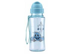 Láhev sportovní dětská s brčkem PH 460ml  KIDS FUN modrá