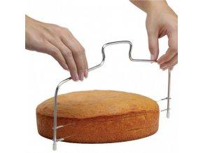 Struna na řezání dortů dvojitá 34cm  KOZÁČEK