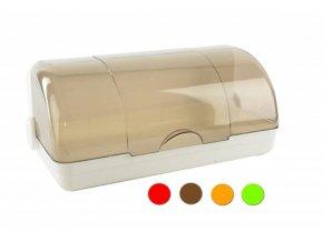 Chlebovka plast 42x25x18cm  PLAFOR, mix barev