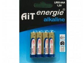 Baterie AiT Alkaline LR03 AAA 4ks blistr