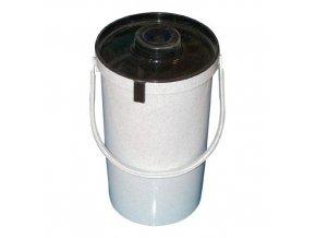 Konvička na potraviny PH 2L s víčkem AP granit bílá/černá
