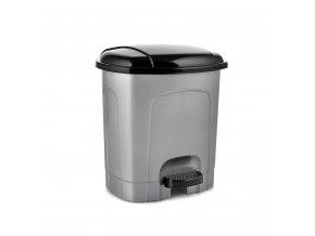 Koš odpadkový pedál  2,5L ovál  HOBBY, mix barev