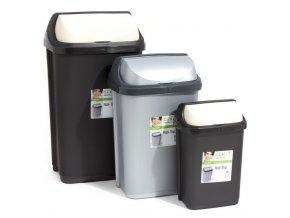 Koš odpadkový výklopný 10L  ROLLTOP, mix barev