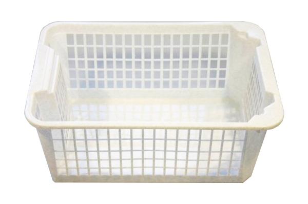 Košík PH 36x26x14,5cm stohovací MINI bílá  CZ