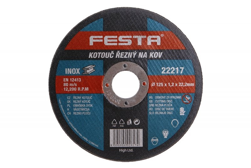 Kotouč řezný FE 125x1,2x22mm  FESTA