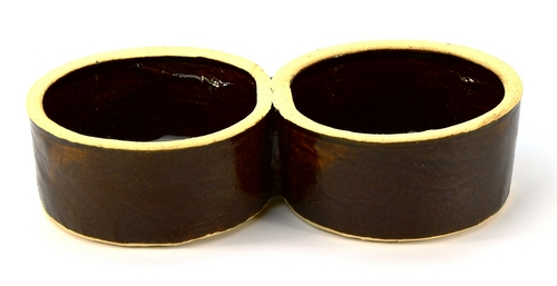 Krmítko keramické dvojité 2x0,5L  CZ