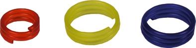 Kroužek na drůbež ¤16mm žlutý 20ks