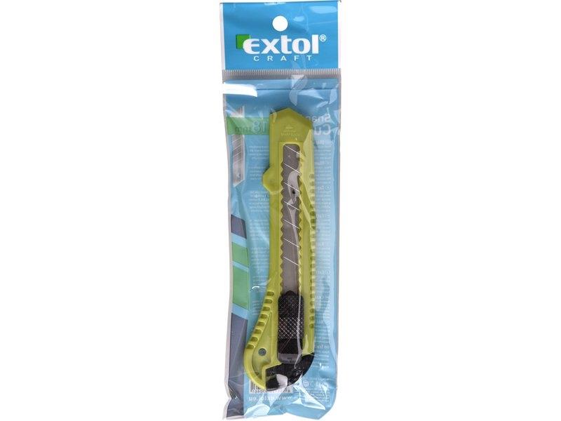 Nůž odlamovací 18mm A EXTOL 290 zelený