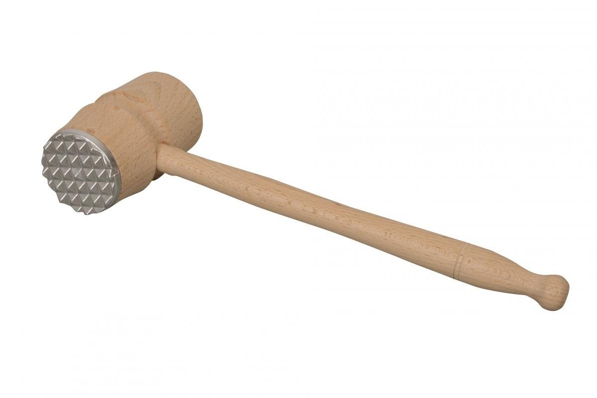 Palička na maso dřevo/kov jednostranná  EKO CZ