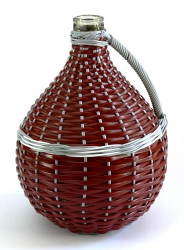 Demižon skleněný opletený 10L (balík max.4ks)