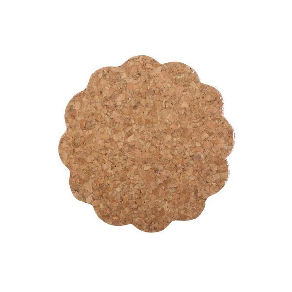 Prostírání korkové kytka ¤9,5cm 6ks  TORO