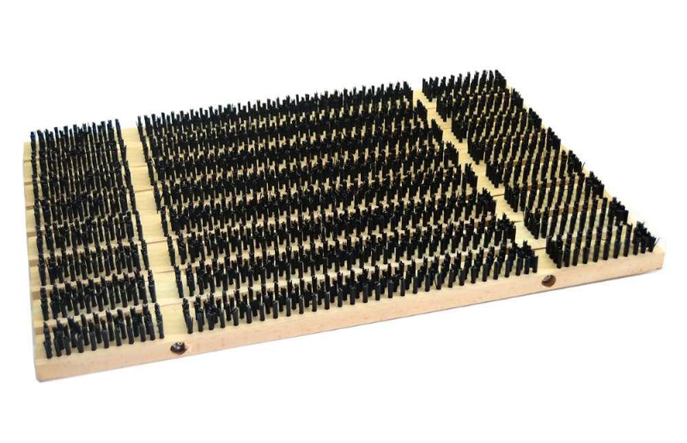 Rohož kartáčová/dřevo 90x45cm  CZ