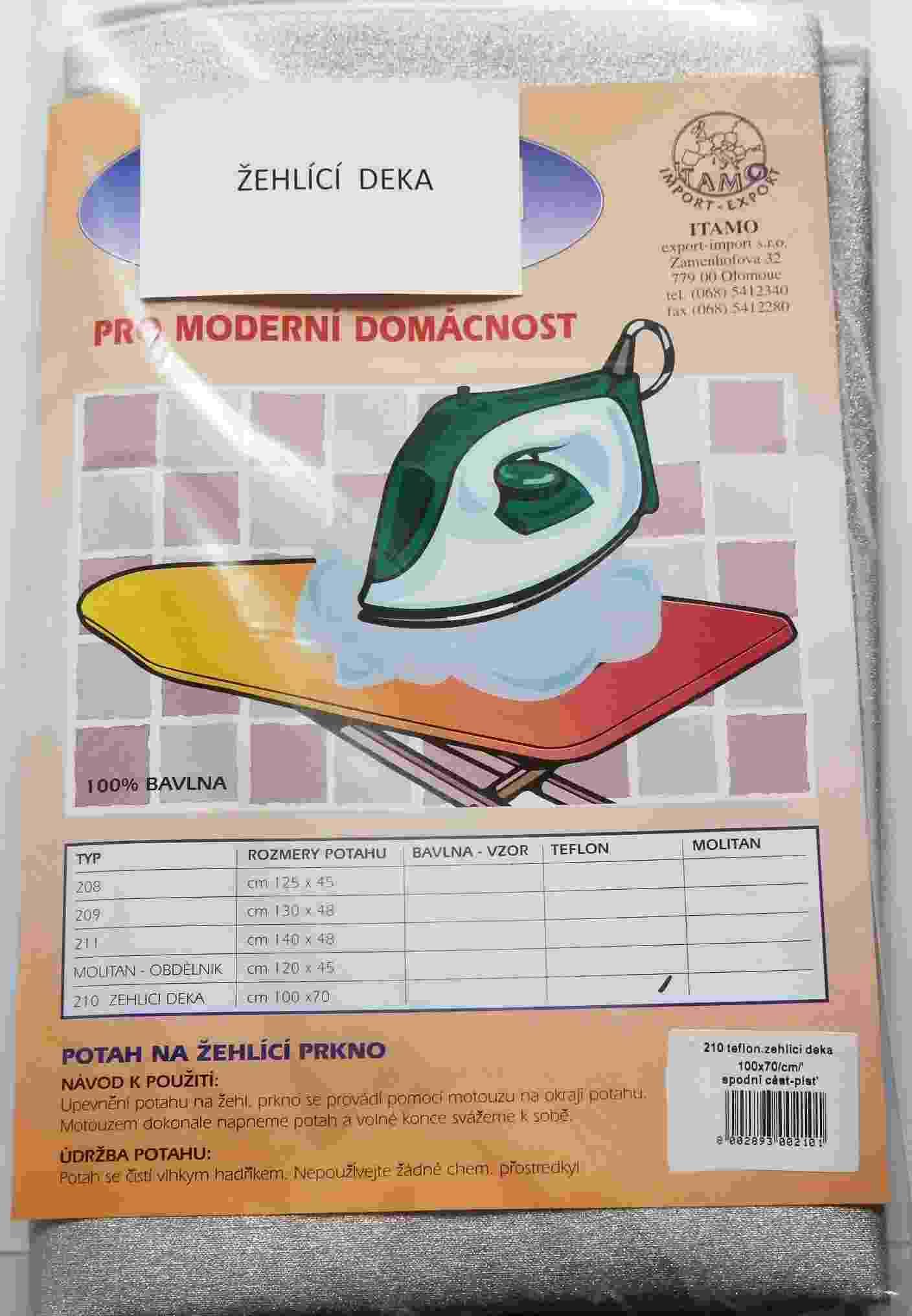 Žehlicí deka 100x70cm teflon