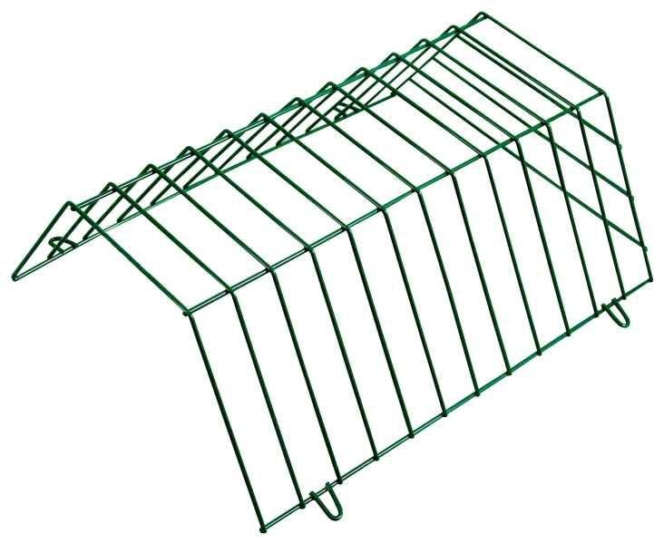 Krmítko drátěné pro králíky boční 43x30x14cm zelené  CZ