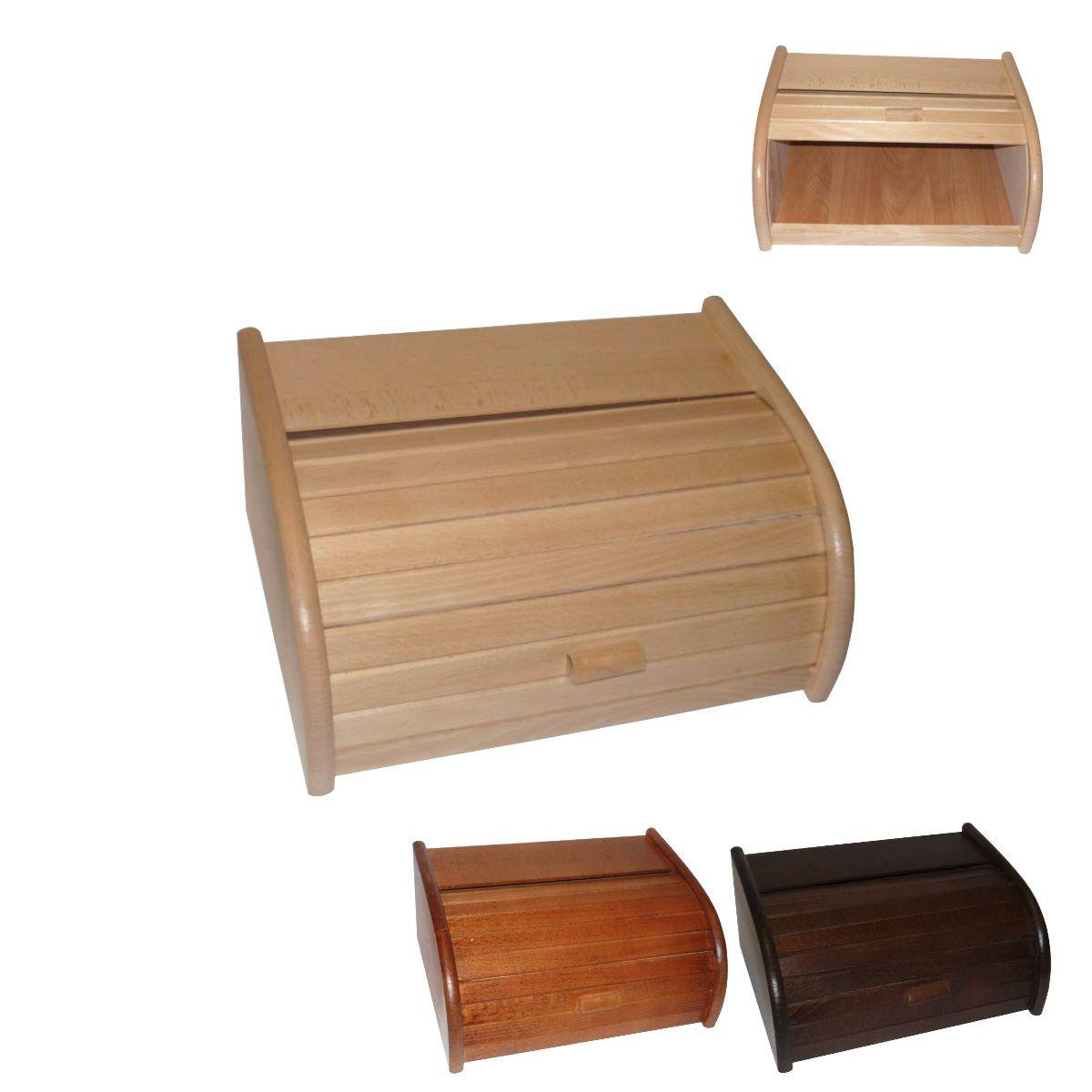 Chlebovka dřevo lak 40x27,5x18,5cm  WOOD, mix barev