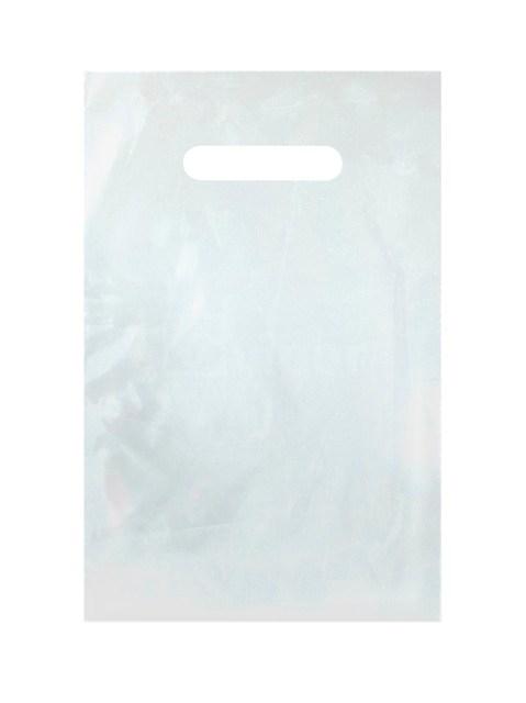 Taška igelitová 20x30cm průhmat bílá