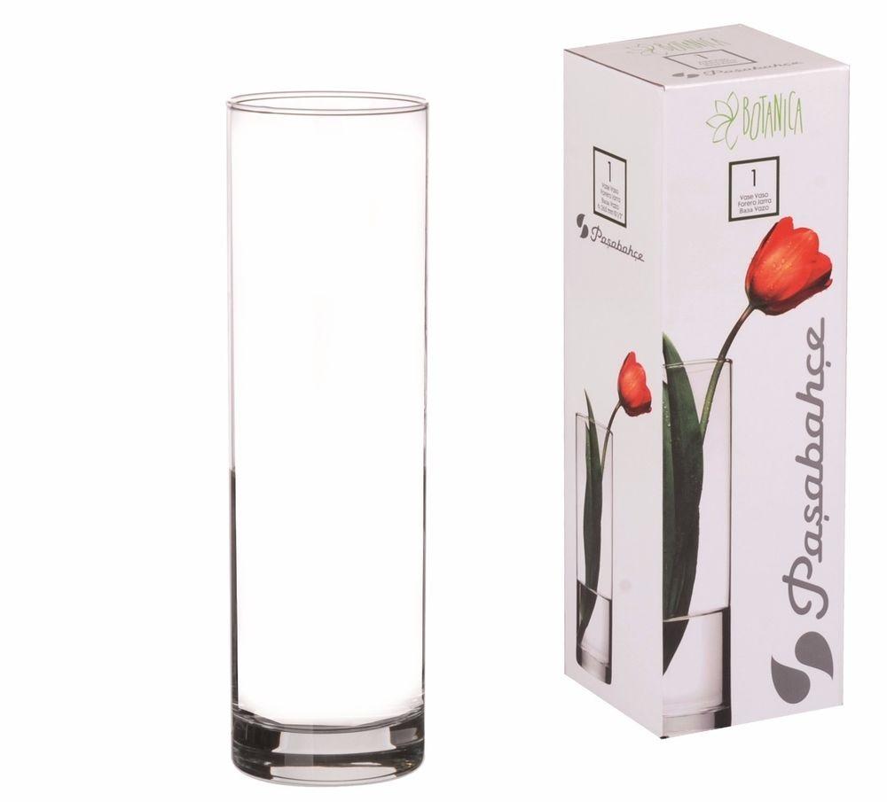 Váza sklo 26cm  FLORA