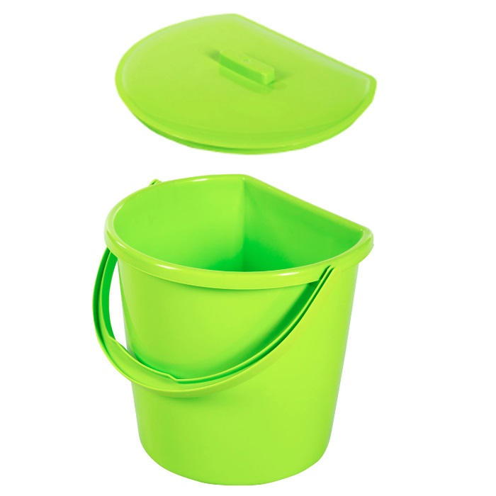 Koš odpadkový kbelík univerzální s víkem 11L  BENTOM, mix barev