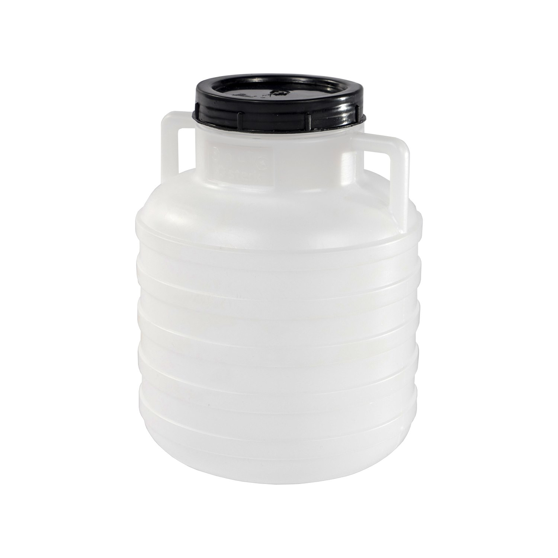 Barel  5L plastový kulatý široké hrdlo  STERK bílá/modrá