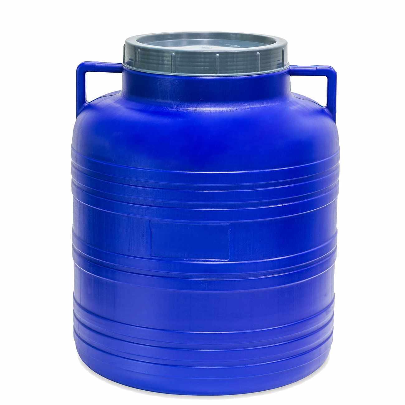 Barel 20L plastový kulatý široké hrdlo  STERK bílá/modrá