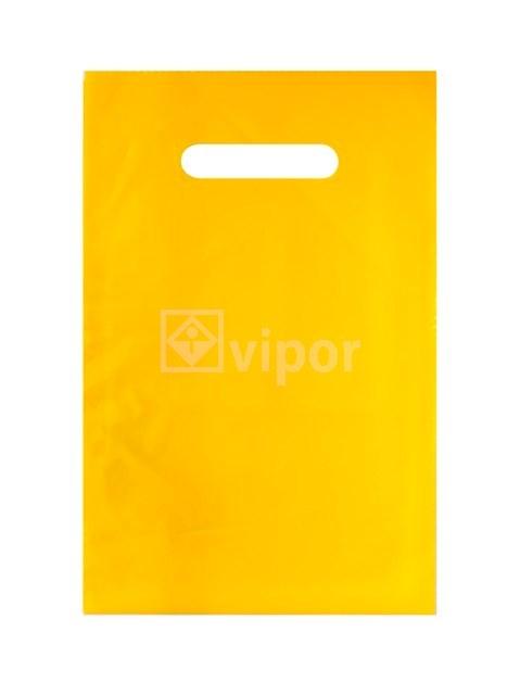 Taška igelitová 20x30cm průhmat žlutá
