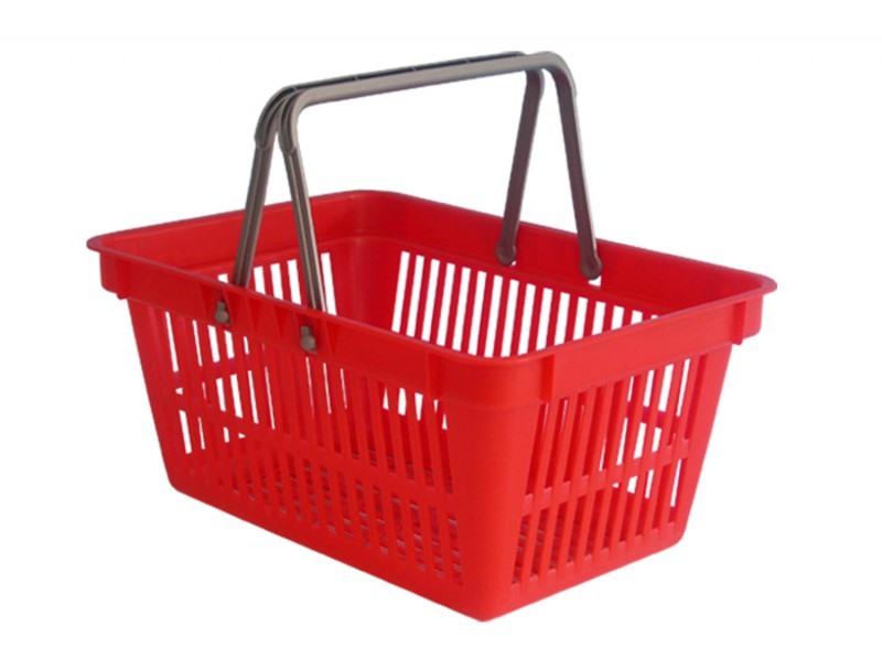 Košík nákupní do samoobsluhy červený  CZ 2
