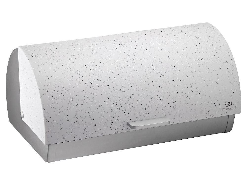 Chlebovka nerez 38x25,5x18,5cm  MRAMOR bílá