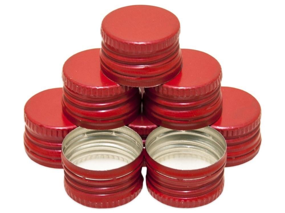 Uzávěr PP 28x18mm alkork, závit, pojistka, červený