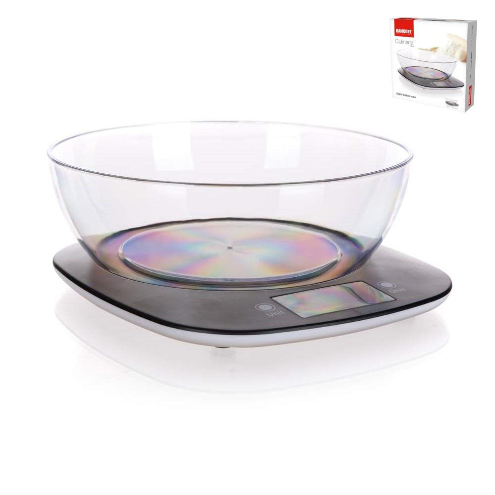 Váha kuchyňská digitální  5kg s mísou  CULINARIA BLACK