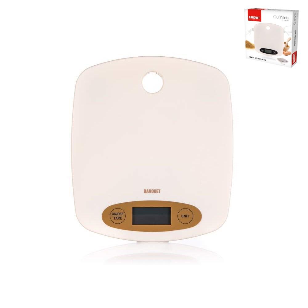 Váha kuchyňská digitální nerez  5kg  CULINARIA CREAM