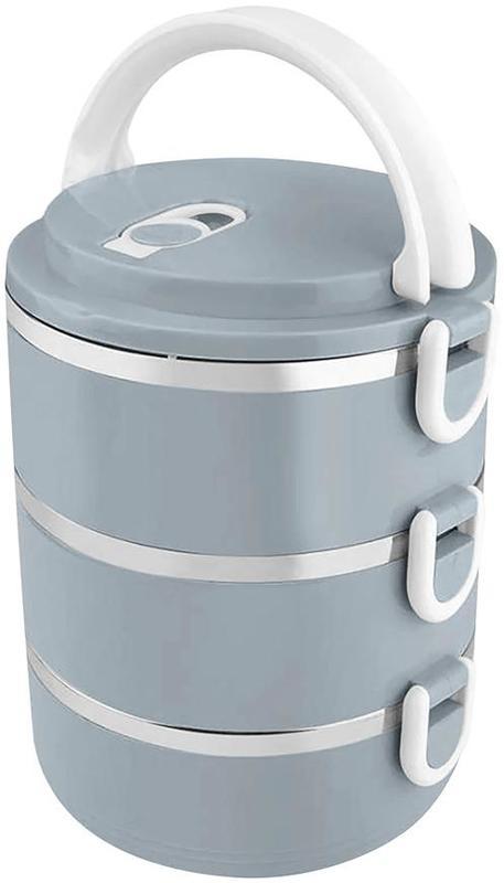 Jídlonosič termo plast/nerez 3x0,5L  MAGICHOME modrý