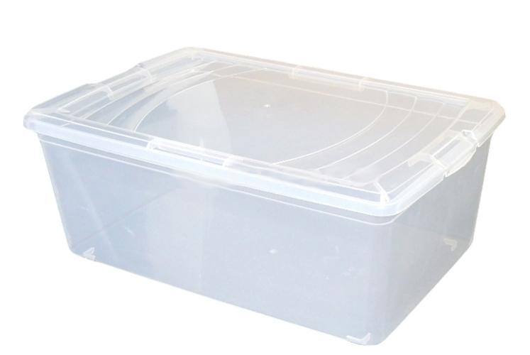 Box úložný 34x21x11cm 6L čirý, atest  BASIC