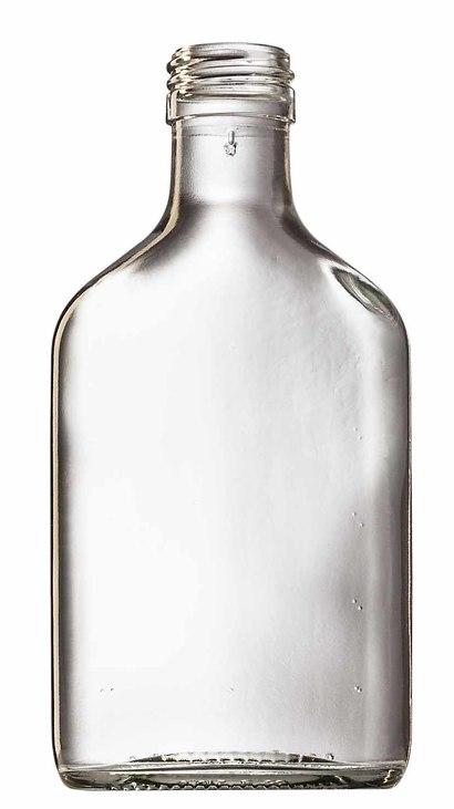 Láhev sklo  200ml PLACKA FLASK čirá bez víčka