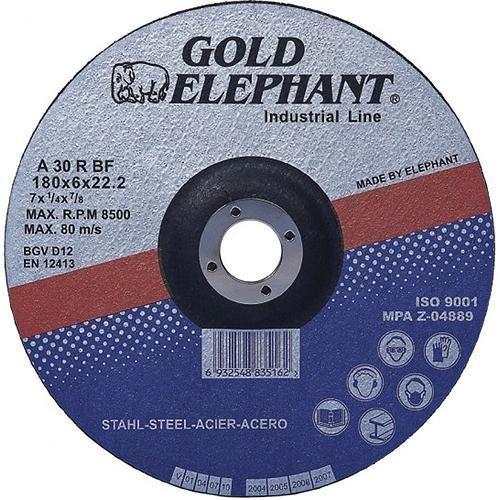 Kotouč řezný FE/INOX 180x1,6x22mm  GOLD ELEPHANT
