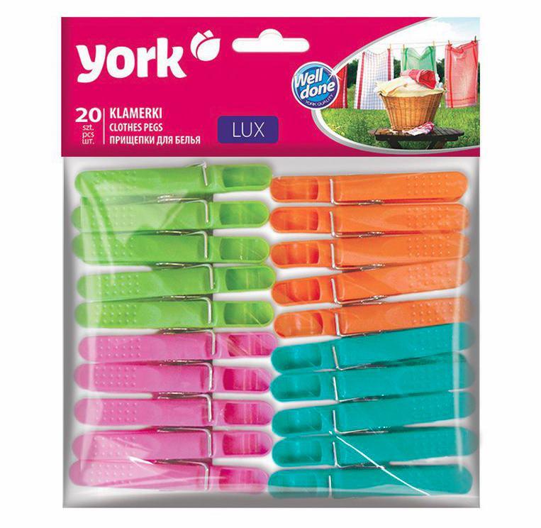 Kolíčky na prádlo 20ks plast  YORK LUX