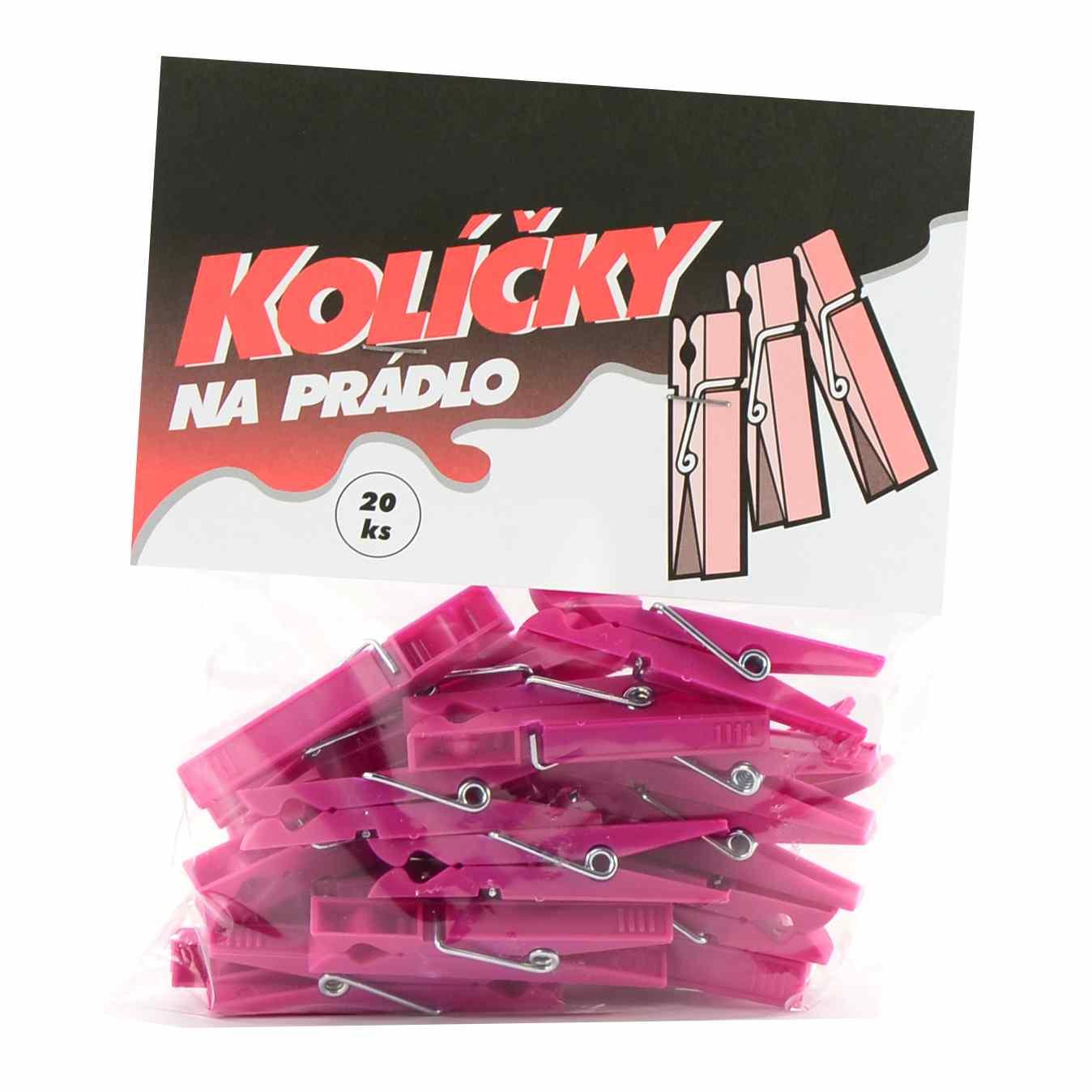 Kolíčky na prádlo 20ks plast H92  CZ