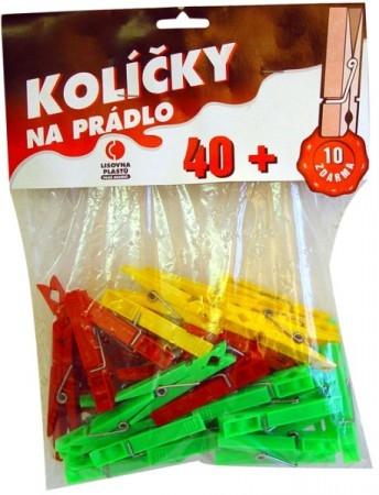 Kolíčky na prádlo 50ks plast H92  CZ