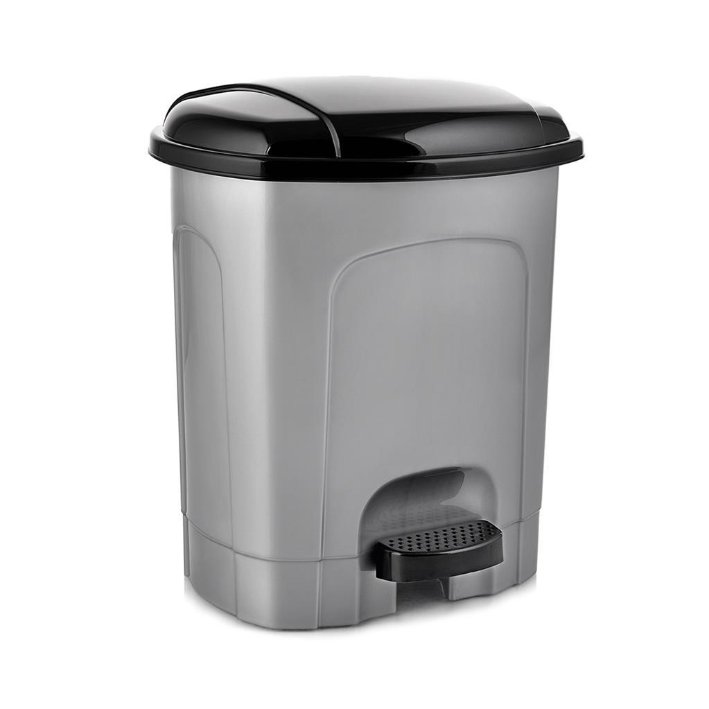 Koš odpadkový pedál  5,5L ovál  HOBBY, mix barev