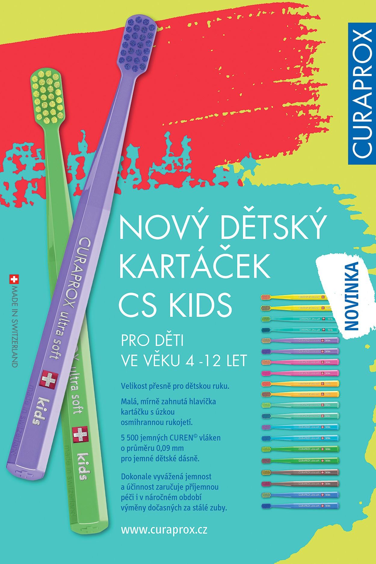 Curaprox dětský kartáček CS Kids 4-12 let