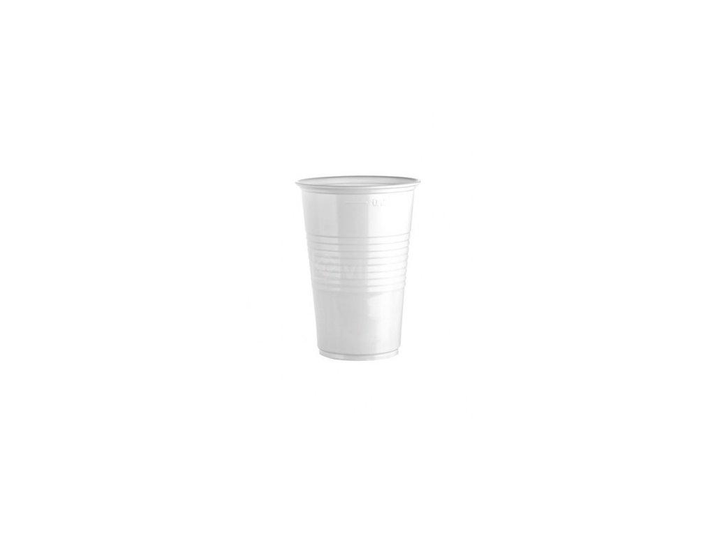 Kelímek plastový bílý, 200ml