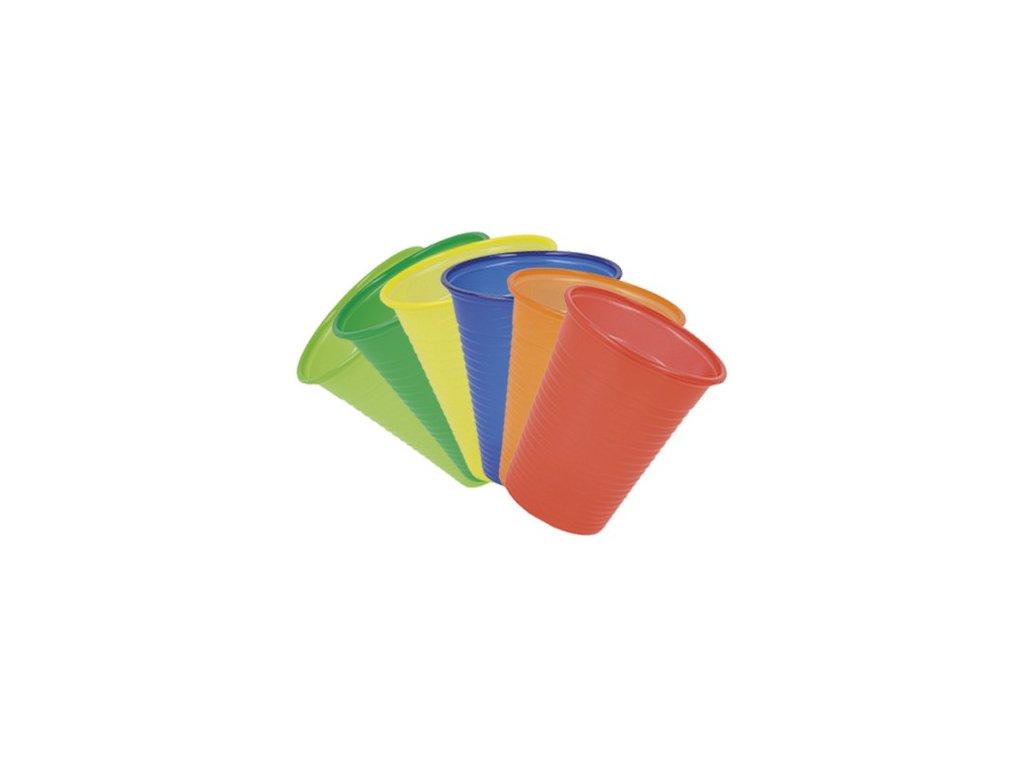 Polydent Kelímek plastový barevný, 180ml
