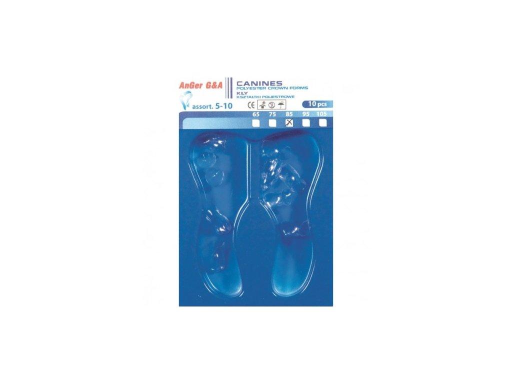 AnGer Polyesterové korunky, špičáky - Canines 10 ks